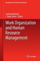 Work Organization and Human Resource Management PDF