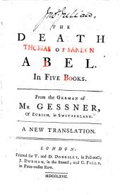 The Death of Abel ... A New Translation