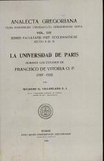 La universidad de Paris durante los estudios de Francisco de Vitoria