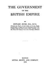 The Government of the British Empire: Volume 25