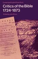 Critics of the Bible  1724 1873 PDF