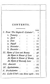 'The Poet of Poets.': The Love-verse from the Minor Poems of Edmund Spenser