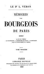 Mémoires d'un bourgeois de Paris: Volume3