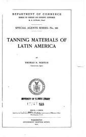 Tanning materials of Latin America