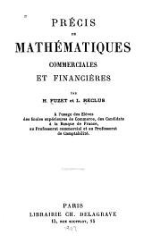 Précis de mathématiques commerciales et financières