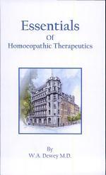 Essentials of Homeopathic Therapeutics