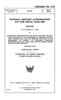 National Defense Authorization Act for Fiscal Year 2000 PDF
