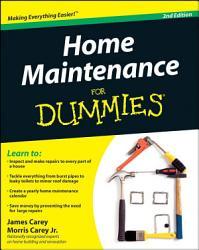 Home Maintenance For Dummies PDF