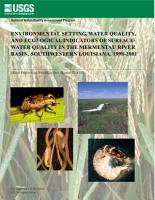 Environmental setting  water quality  and ecological indicators of surface water quality in the Mermentau River Basin  Southwestern Louisiana  1998 2001 PDF