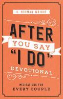After You Say  I Do  Devotional PDF