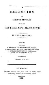 A Selection of Curious Articles from the Gentleman's Magazine: Volume 3