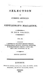 A Selection Of Curious Articles From The Gentleman S Magazine Book PDF