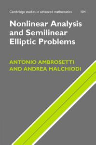Nonlinear Analysis and Semilinear Elliptic Problems PDF