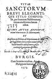 Vitae Sanctorum brevi elegantique stylo compositae