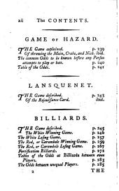 Hoyle's games improved: being practical treatises on the following fashionable games, viz. ... : in which are also contained the method of betting at those games upon equal, or advantageous terms : including the laws of the several games...