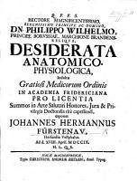 Desiderata anatomico physiologica  exponet J  H  F   To which is prefixed Propempticon de docta medicorum ignorantia   PDF