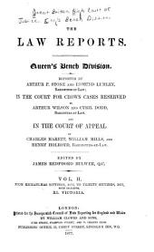 The Law Reports: Queen's Bench Division and in the Court for Crown Cases Reserved and in the Court of Appeal, Volume 2