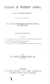 Mission in Western Africa, among the Soosoos, Bulloms, etc. With an Introduction
