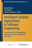 Intelligent Systems Applications in Software Engineering PDF