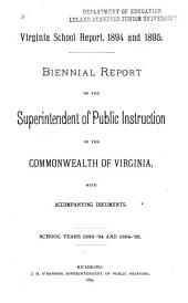 Virginia School Report: Annual Report of the Superintendent of Public Instruction