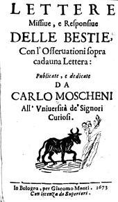 Lettere missiue, e responsiue delle bestie: con l'osseruationi sopra cadauna lettera