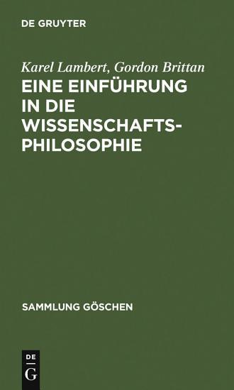 Eine Einf  hrung in die Wissenschaftsphilosophie PDF