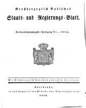 Großherzoglich Badisches Staats- und Regierungsblatt: 1829