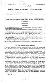 Service and Regulatory Announcements: (1918), Volumes 48-58