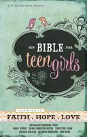 NIV  Bible for Teen Girls  eBook PDF