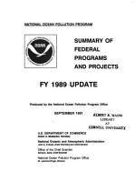 Summary of Federal Programs and Projects PDF