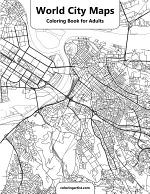 World City Maps Coloring Book for Adults 1
