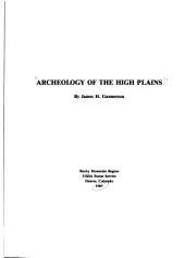 Archeology of the High Plains