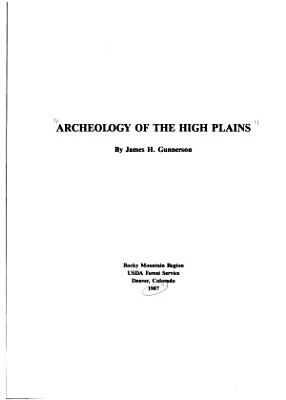 Archaeology of the High Plains PDF