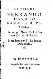 La vita di Ferrando Davalo, Marchese di Pescara