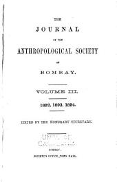 The Journal of the Anthropological Society of Bombay: Volume 3