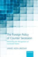 The Foreign Policy of Counter Secession PDF