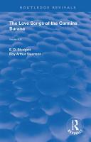 The Love Songs of the Carmina Burana PDF