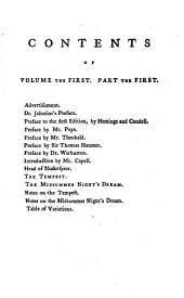 The plays of Shakespeare, from the text of S. Johnson, with the prefaces, notes &c. of Rowe, Pope and many other critics. 6 vols. [in 12 pt. Followed by] Shakespeare's poems: Volume 1