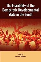 The Feasibility of the Democratic Developmental State in the South PDF