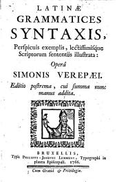 Latinae grammatices syntaxis...