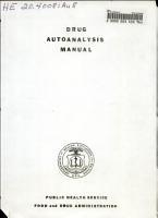 Drug Autoanalysis Manual PDF
