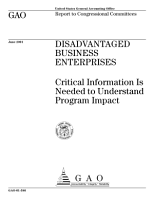 Disadvantaged business enterprises critical information is needed to understand program impact  PDF