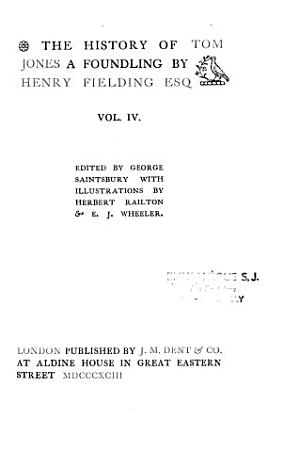 The Works of Henry Fielding  Tom Jones  1893 PDF