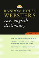 Random House Websters Advanced English Dictionary