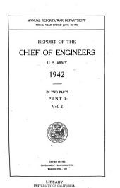 Annual Report of the Chief of Engineers, United States Army: Part 1, Volume 2