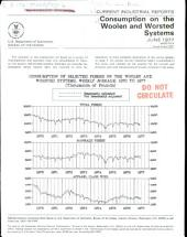 Current Industrial Reports: Consumption on the woolen system and worsted combing