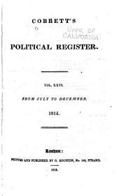 Cobbett's Political Register: Volume 26