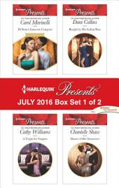 Harlequin Presents July 2016 - Box Set 1 of 2: Di Sione's Innocent Conquest\A Virgin for Vasquez\Bought by Her Italian Boss\Master of Her Innocence