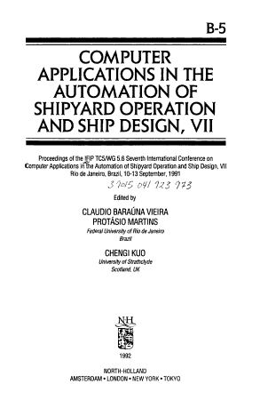 Computer Applications in the Automation of Shipyard Operation and Ship Design  VII PDF