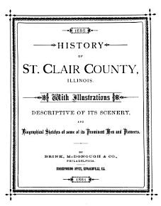 History of St  Clair County  Illinois PDF